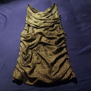 Gold Ruched Express Dress